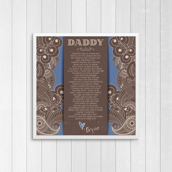 Personalized Fathers Day Poem From Baby Boy Gift From Baby Etsy