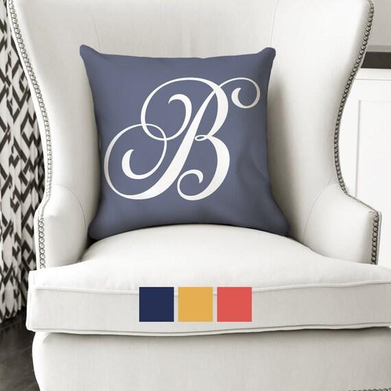 40x40 Alphabet Initial Pillow Monogram Pillow Personalized Pillow Best Initial Pillow Covers