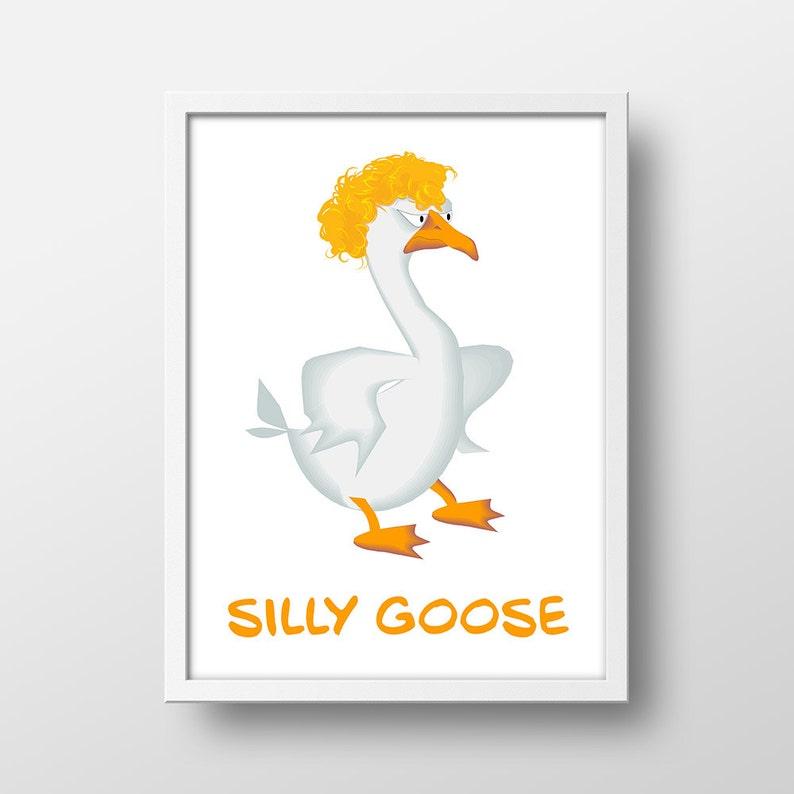 Nursery Art Print  Silly Goose  Printable Nursery Decor  image 0