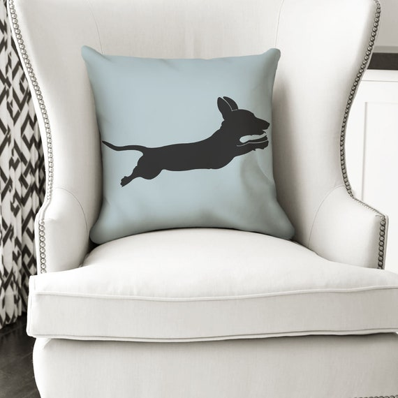 Wiener Dog Couch Throw Pillow