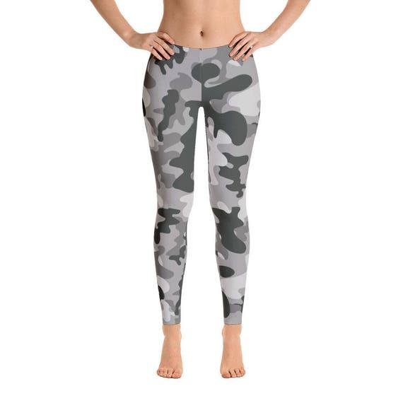c26ed0f1621f3 Camouflage Leggings Camo Leggings Gray Camo Yoga Pants Camo   Etsy