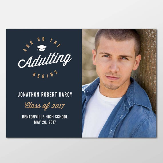 Senior Graduation Announcement Photo Cards Boy Graduation
