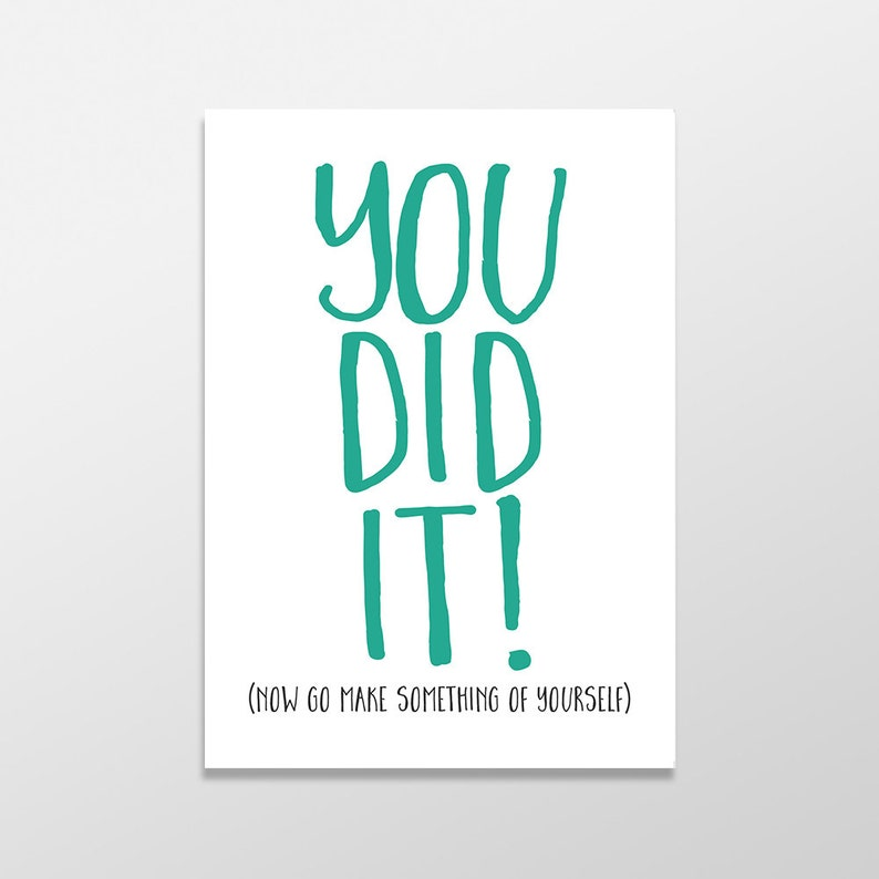 5c7d7156d43cb Funny Graduation Card, Graduation Card, Funny Greeting Card, You Did It  Card, Funny Congratulations Card, Funny Congrats Card, Grad Humor