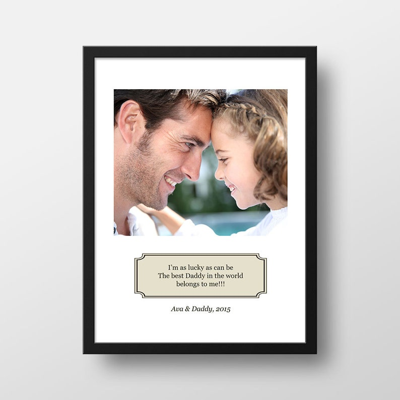 Personalized Photo Gift for Dad  Lucky as Can Be  Best Daddy image 0