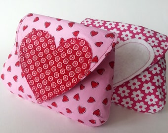Heart Coin Purse - PDF Instant Download Sewing Pattern - Easy Simple Quick