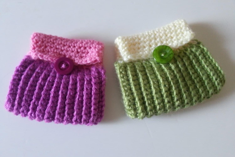 Mini Crochet Coin Purse - Crochet Pattern Tutorial - Instant Digital ...