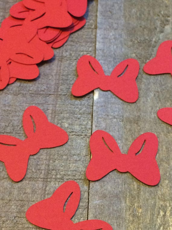 Rode Minnie Mouse Bow Confetti Scatter Decor Middelpunt Etsy