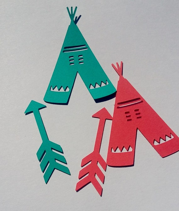 Teepee And Arrow Table Decor Scatter Decoration Centerpiece Embellishments  / Tribal Or Native American Themed Birthday Party C196 From ConfettiGenie  On Etsy ...