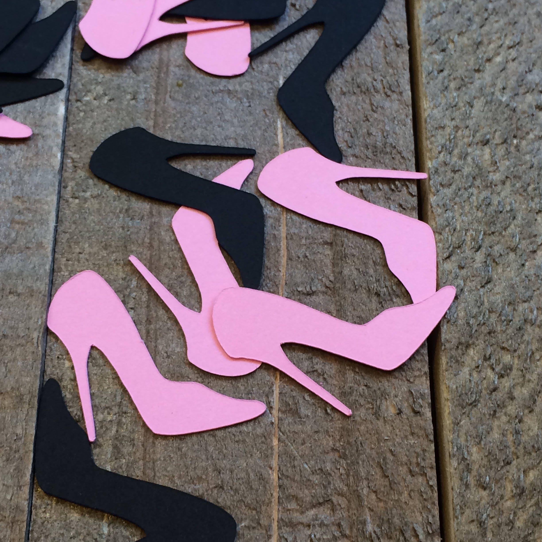 Pink Black High Heel Shoe Confetti / Bridal Shower   Etsy