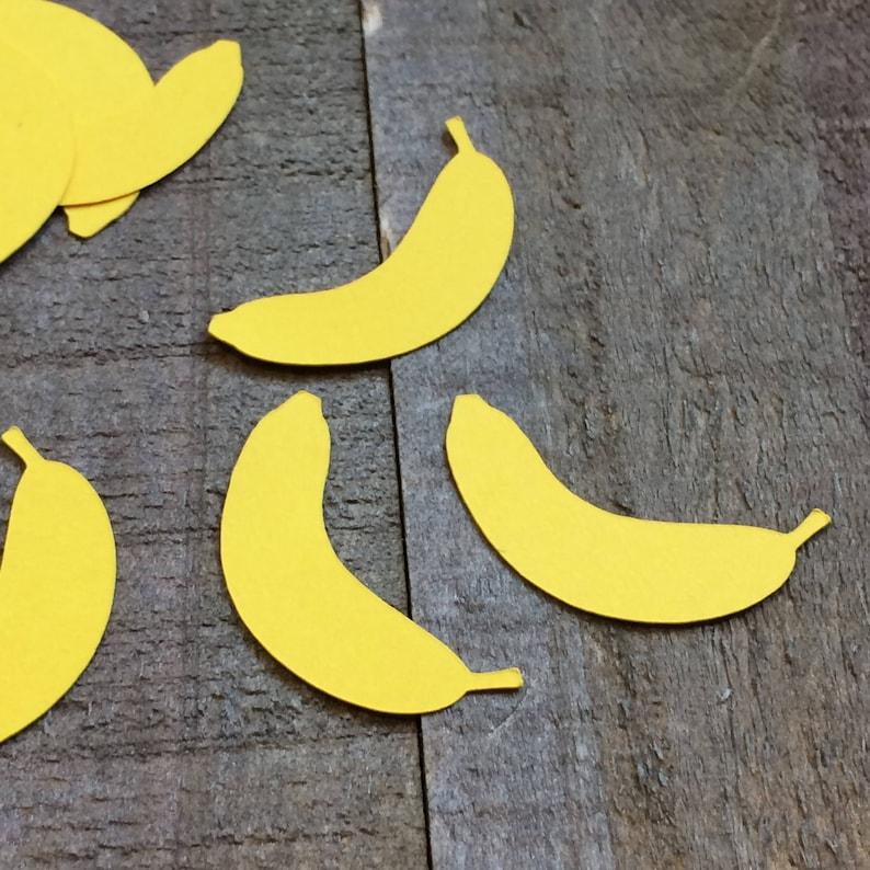 Banana On Table Yellow Banana Table Confetti - Fruit Theme Party Decor | Etsy