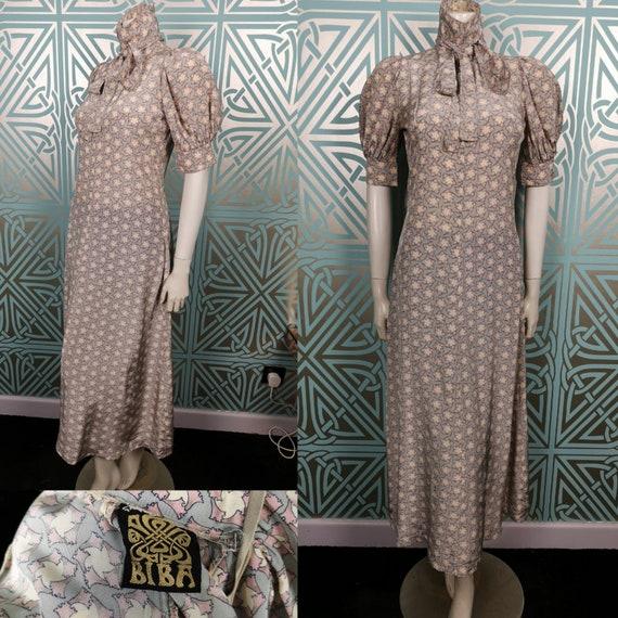 Rare Original 1968 Biba Puffed Sleeved Maxi Dress