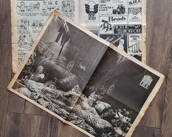 Original 1973 Big Biba Opening Day Newspaper  - Fair Condition - Only 75 Pounds!