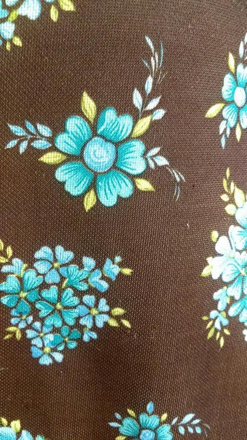 WAS 55 NOW 25 Pounds! Original 1960/'s Blue Floral Print Long Sleeve Scooter Dress Good Condition SALE
