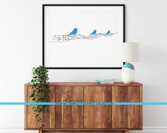 3 Little Birds Musical Note Print