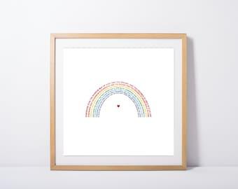 Over the Rainbow, Wonderful World Wall Art Print