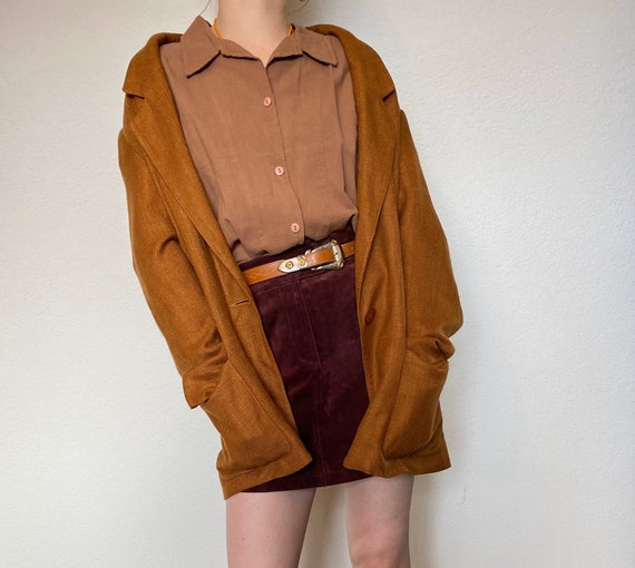 Vintage Linen Oversized Blazer