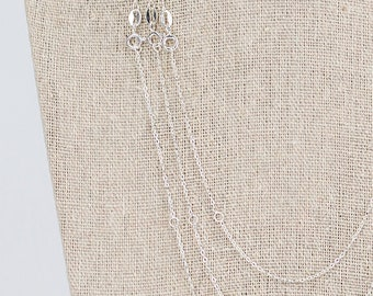 Sterling silver adjustable chain, extender chain, for necklace, trace chain, plain chain, 16 inch, 18 inch silver chain, sliver 925 chain,