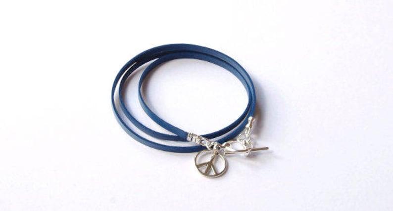 Peace symbol bracelet cnd sign braceletpeace jewelry image 0
