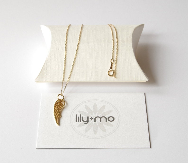 Gold Wing Necklace bird wing necklace gold angel wing image 0