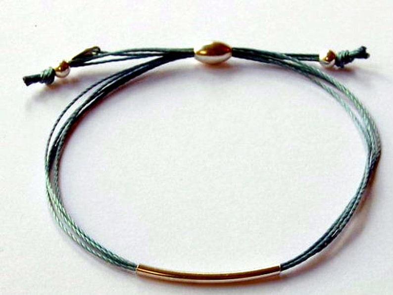 coloured cord friendship bracelet simple cord bracelet image 0