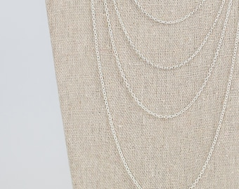 Sterling silver chains, silver trace chains, childs chain, childs necklace, 14 inches, 16 inches, 18 inches, 20 inches, 22 inches, 24 inches