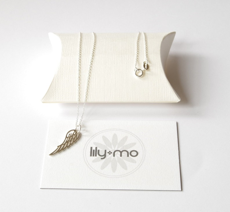 Silver Wing Necklace bird wing necklace silver wing image 0