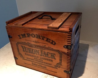Whiskey Crate -- Retrofitted Rare Whiskey Wood Trunk Box Crate Chest