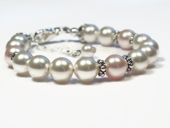 Baby Bracelet Pearl Bracelet Baby Girl Jewelry Baby Shower Etsy