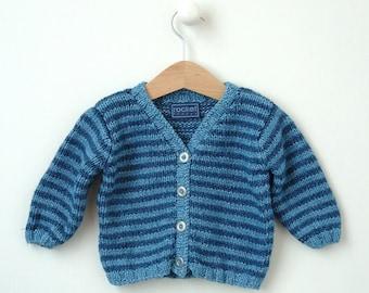 EASY KNITTING PATTERNS baby jacket Newborn to 2 years 'Classic Stripe'