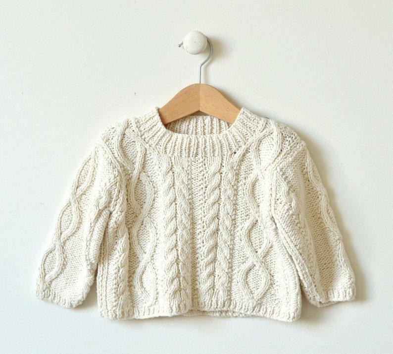 421a7755fbde8b 0-4m 4-8m baby sweater knitting pattern Diamond Cable Crew