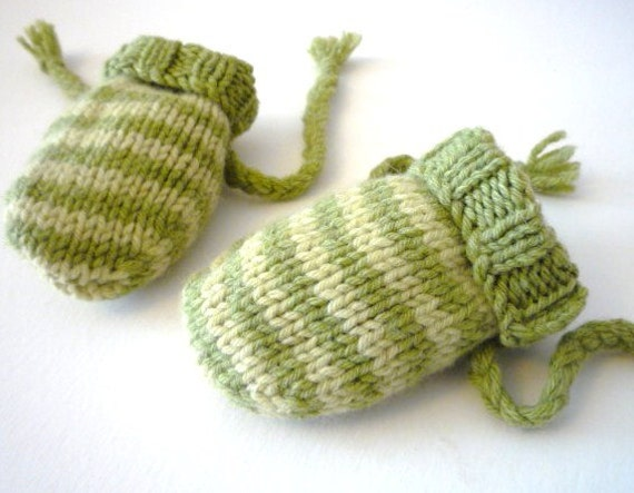 Easy Baby Knitting Patterns Pdf Baby Mittens 0 6 Months Etsy