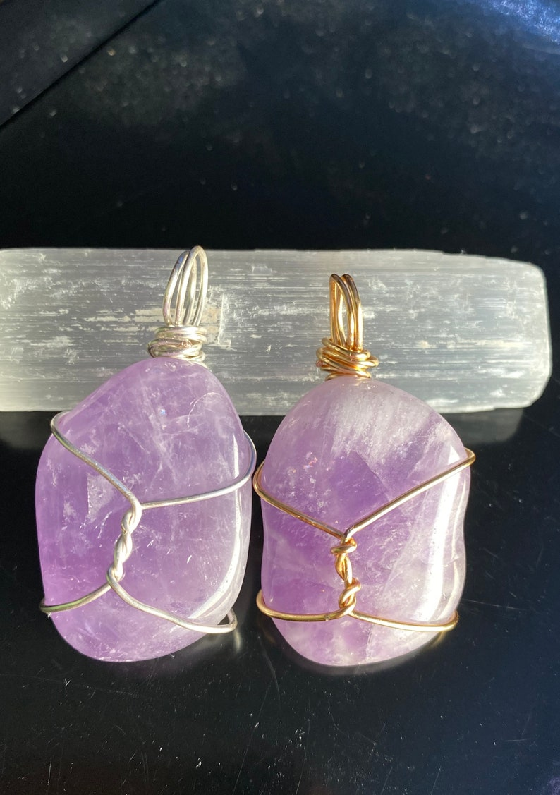 Amethyst Wire-Wrapped Pendant!