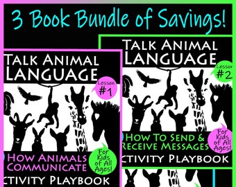 TALK ANIMAL LANGUAGE Playbooks #1 #2 & #3 *Bundled Savings *Learn How to Communicate with Pets *Activity Playbook *4 Kids 2 Adults
