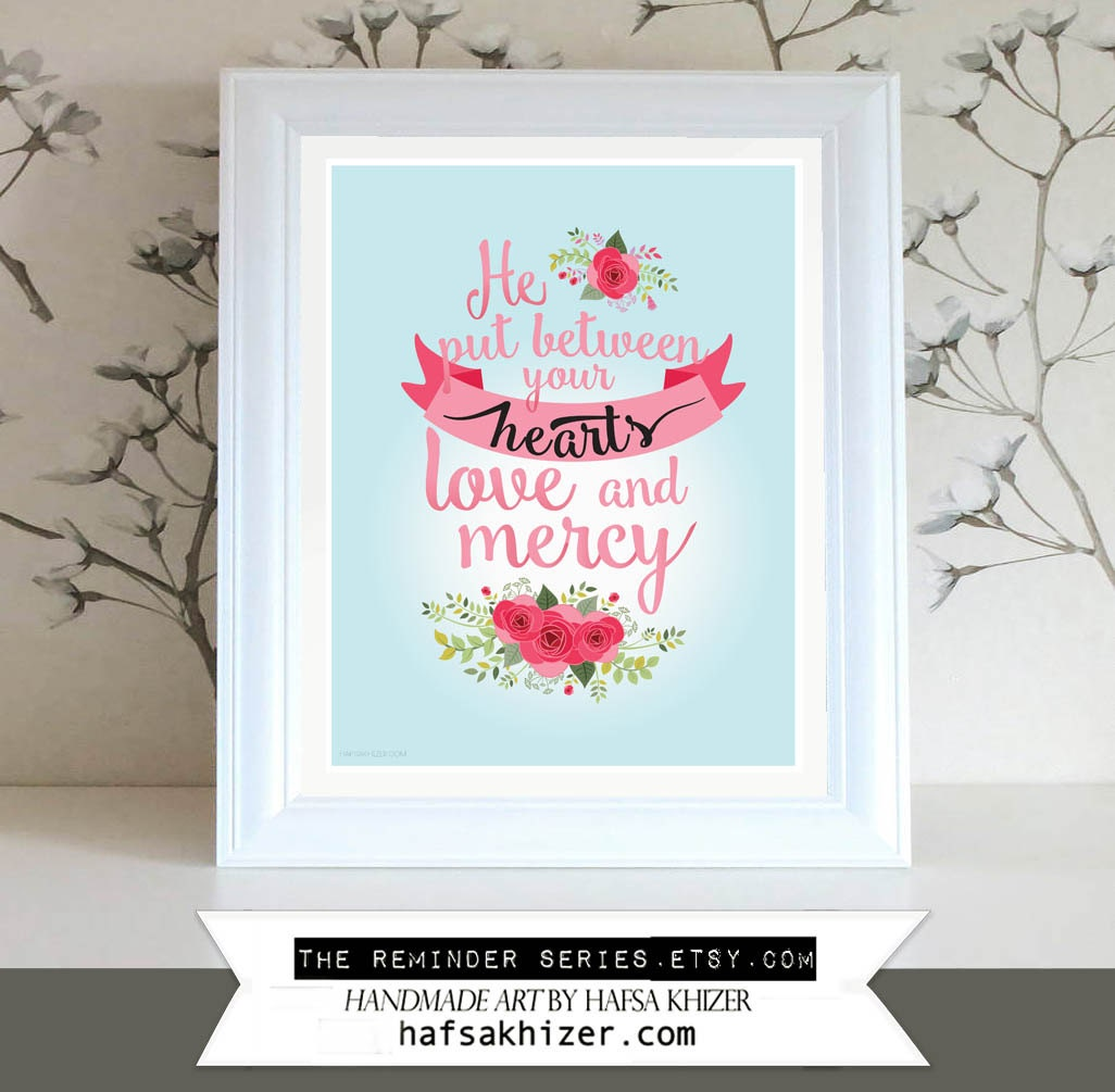 Islamic Wedding Gifts Uk: Islamic Wedding Print He Put Between Your Hearts Love And
