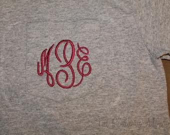 Monogrammed T-Shirt Long Sleeve