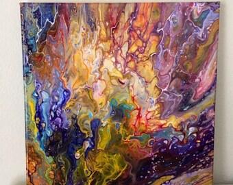 7d61b7e7c1b Flames of Pure Color An Original Fluid Acrylic Pour Painting 12 x 12