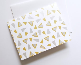 Big Four Card in Gold + Silver, Set of 4 or 8