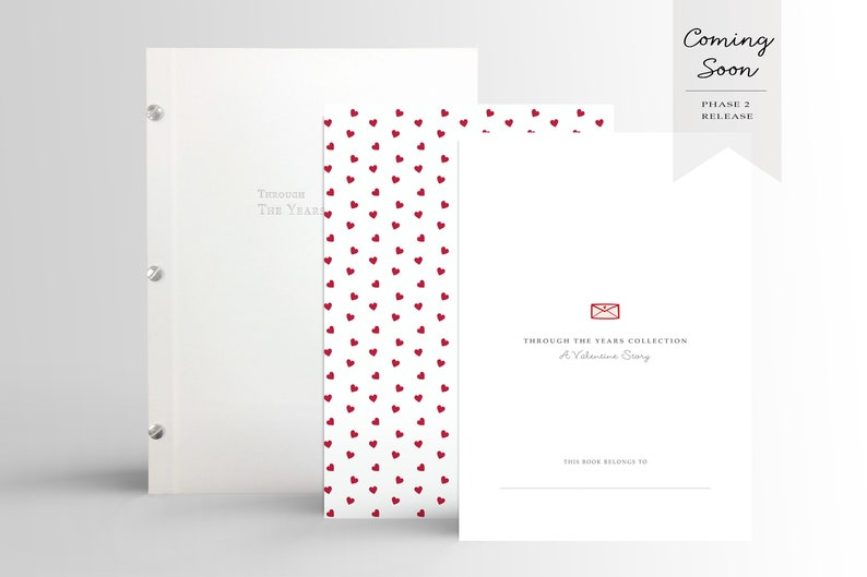 6191806a69d6c Special Order! Modern Baby Book: A Valentine's Day Story | Minimalist  Memory Book | Modern Album