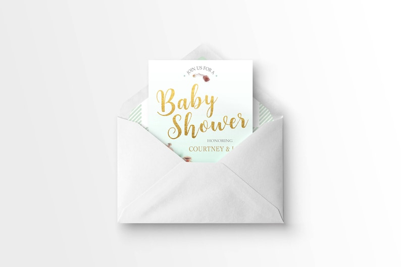 Simple Tea Party Baby Shower Invitation High Tea Baby Shower Invitation Floral Baby Shower Baby Shower Invitation Tea Party Invitation