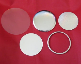 1-34 Tecre Mylars Clear Plastic Cover for Button Maker Machine Press 1,000 pcs 1.75