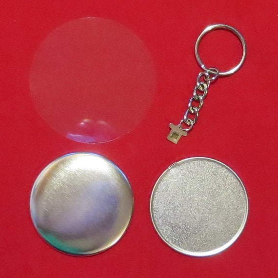 """1000 1-3//4 /""""pulgadas tecre Completa botón de Pinback Insignia piezas de máquina estándar conjunto"""