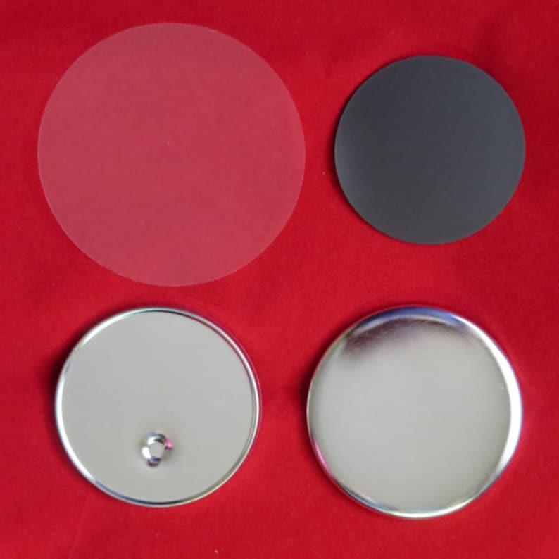 "2-1//4/"" inch TECRE CABUTTONS Pin Badges Set for Button Makers Machines 500 pcs"