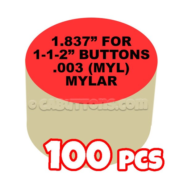 "2-1//4/"" Tecre Mylars Clear Plastic Cover for Button Maker Machine Press 100 pcs"