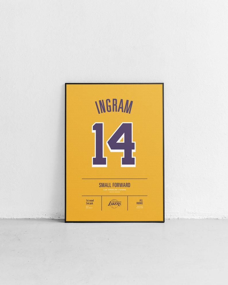 9ffdb3d9f37 INGRAM Lakers Stats Print