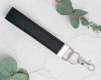 Genuine Leather Wristlet Fob / Keychain Wrist Lanyard / Keyring Key Fob / Unisex Teacher Gifts / Leather Gifts / ID Badge Lanyard