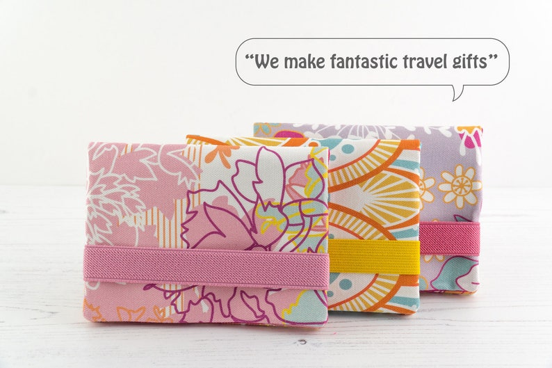 Mini Travel Wallet  Travel Organiser  Passport Holder  Gifts For Travellers And Women  Passport Cover In Exclusive Fabric Ice Cream
