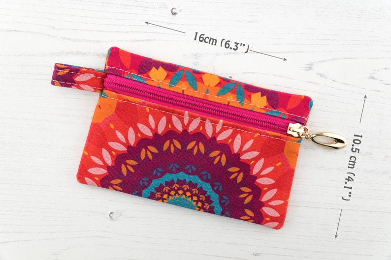 Harmony Large Coin Purse Zipper Pouch  Cotton Travel Jewellery Pouch  Sanitary Kit Case In Exclusive Fabric
