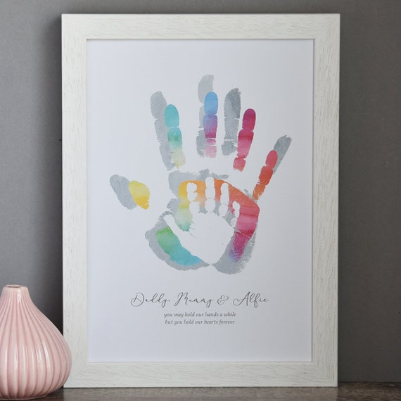 Personalised Hold My Hand Family Print Family Handprint