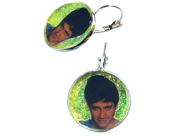 Donnie Darko  glitter green earring