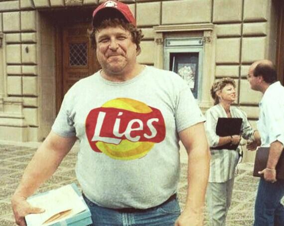 LIES illustration unisex t-shirt